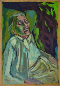 Ulrich Rölfing, 66 LXVI, Tempera auf Karton, 2015