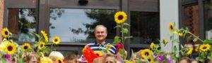 Eugen Riesterer bei der Einschulung der ersten Klasse in der Rudolf Steiner Schule Wandsbek